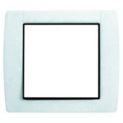 Plaque 1 poste - Blanc